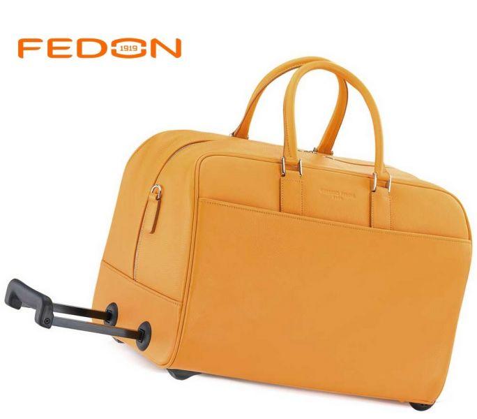 2d5fb997f16f5 kožená cestovná taška na kolieskach FEDON 1 | cestovné tašky a kufre ...