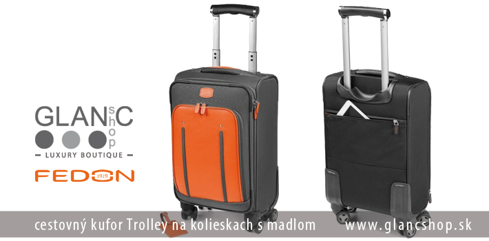 2cfd3b8fbccc3 ... cestovný kufor Trolley na kolieskach s madlom značky FEDON,  www.glancshop.sk ...