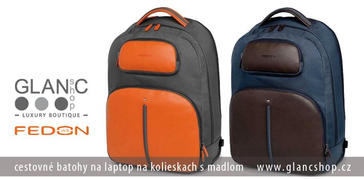 8abc695b31182 ... cestovné batohy na laptop na kolieskach s madlom značky FEDON,  www.glancshop.sk ...
