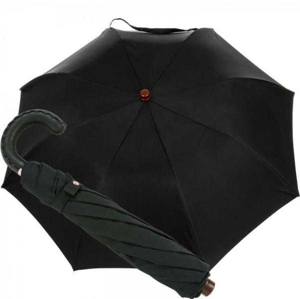 5ceda52b3 pánsky skladací dáždnik Oertel Handmade s koženým madlom - pohlad 1 -  www.glancshop.