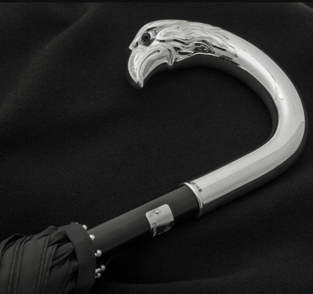 6eb7922d5 pánsky dáždnik Oertel Handmade so strieborným držadlom Orol - pohlad 4 -  www.glancshop.