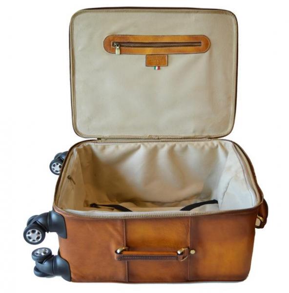 3d3d0231f5d05 kožená cestovná taška s kolieskami Continental 1 - pohlad 4 -  www.glancshop.sk kožená ...